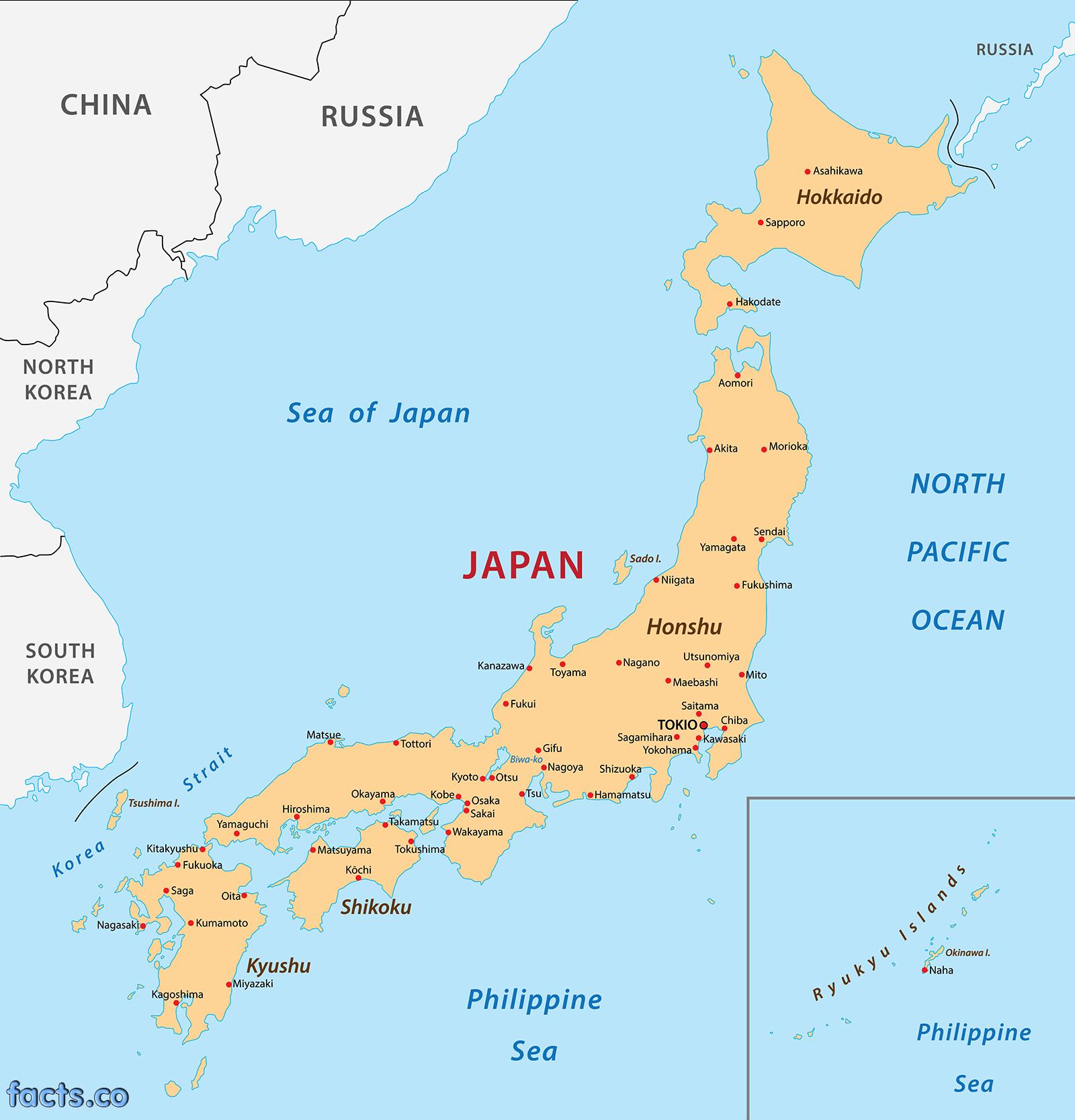 Japan Map And Satellite Image Japan Map Geography Of Japan Map Of - Japan map outline